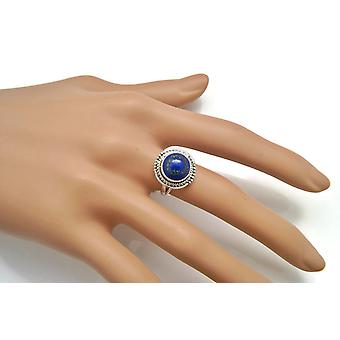 Lapis Lazuli Ring 925 Silver Sterling Silver Silver Women's Ring Blue (IRM 98-06)