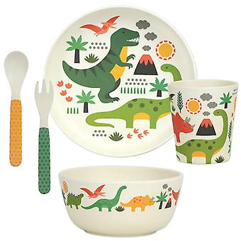 Petit Collage 5 Piece Bamboo Eco Dinnerware Set, Dinosaurs