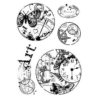 Holzgeschirr klar Singles - Vintage Kreise Stempel Set