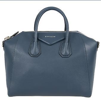 Givenchy Antigona Sugar Goatskin Satchel Bag | Blue Grey | Small