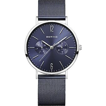 Uhr Bering 14236-303 - Helles StahlZifferblatt blau Zifferblatt multifunktionale Milanese Stahl Armband blau Frauen