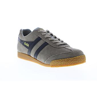 Gola Harrier Suede  Mens Gray Lace Up Low Top Sneakers Shoes