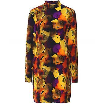 Ganni Silk Blend Shift Dress