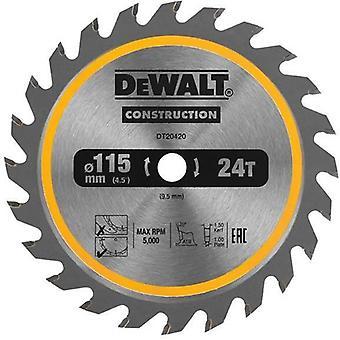 DeWALT DT20420-QZ 115mm 24T 9.5mm TCT Circ Saw Blade DCS571