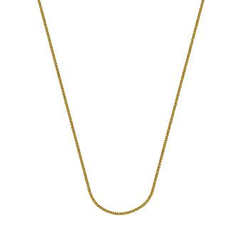 14k Yellow Gold 0.85mm Square Wheat Chain Necklace Spring Ring Closure Jewelry Gifts for Women - Length: 16 to 20