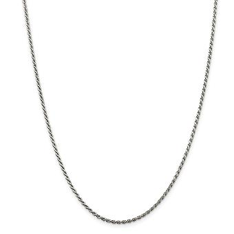 925 Sterling Silver Rhodium plated 1.75mm Sparkle Cut Rope Chain Necklace Jewelry Gifts for Women - Length: 16 to 30