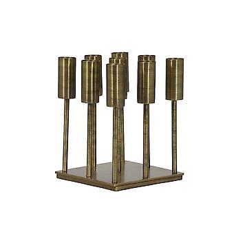 Licht- en levend theelicht op de basis 9L 23x23x30cm - Baya Antiek Brons