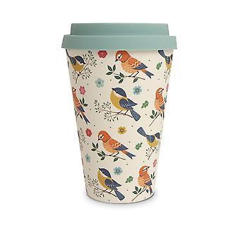 History & Heraldry Bamboo Eco Travel Mug - Birds