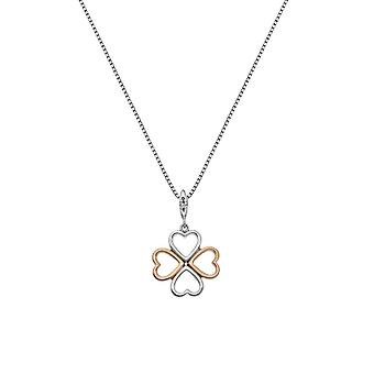Hot Diamonds Sterling Silver Lucky In Love Rose Guld Accenter Hänge DP769