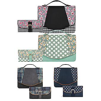 روبي شو المرأة & s بلفاست أعلى مقبض حقيبة ومطابقة محفظة كومو