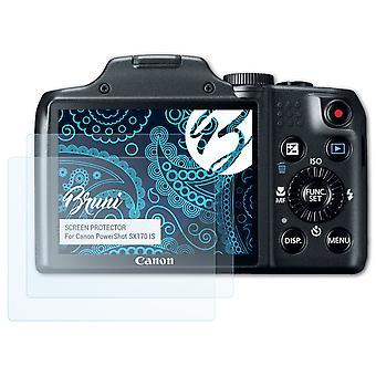 Bruni 2x Schutzfolie kompatibel mit Canon PowerShot SX170 IS Folie
