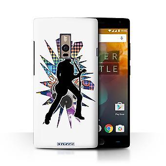 STUFF4 Gehäuse/Deckel für OnePlus 2/2/Sängerin weiß/Rockstar darstellen