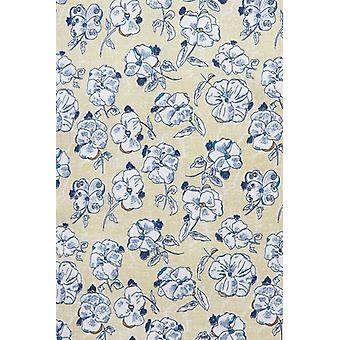 Italian shirts-Slim Fit shirt-Blouse Drawn Flower Pattern-Beige