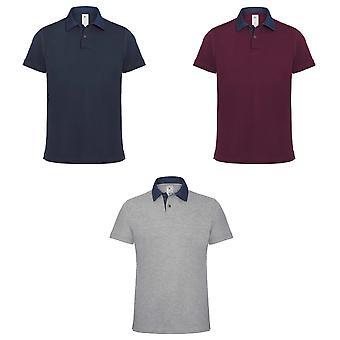 B&C Denim Mens Forward Short Sleeve Polo Shirt