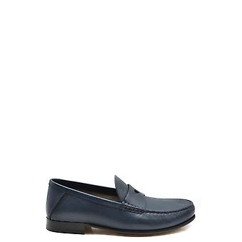 Tod's Ezbc025111 Men's Blue Leather Loafers