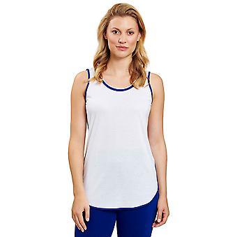 Rösch 1203257-11710 Women's Pure White Vest Pyjama Top