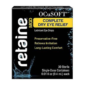 Ocusoft retaine mgd complete dry eye relief single-dose lubricant, 30 ea