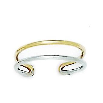 14k White Gold Adjustable Double Row Body Jewelry Toe Ring Jewelry Gifts for Women