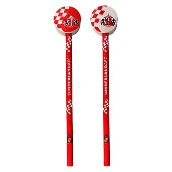 Sunderland AFC Official Football Gift 2 Pack Pencils & Toppers