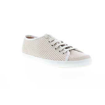 Camper Motel Damen Beige Tan Leder Low Top Euro Sneakers Schuhe