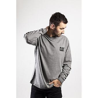Caterpiller Mens Trademark Banner Long Sleeve T-Shirt