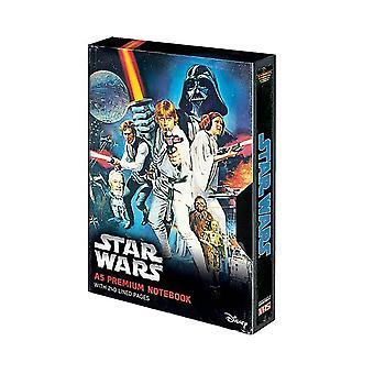 スター・ウォーズ 新しい希望VHSスタイルA5プレミアムノートブック