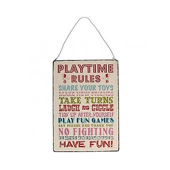 Dotcom Gift Shop Playtime Rules Sign