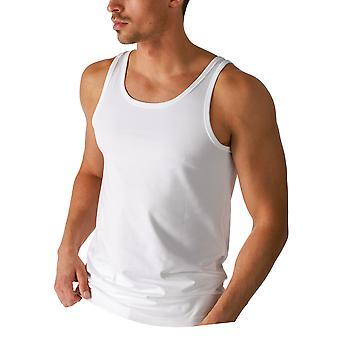 Mey 46100-101 mannen droge katoenen witte effen kleur Tank Vest Top