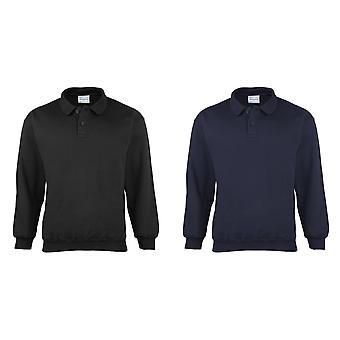 Maddins Mens Coloursure Polo Pisquet Sweatshirt Top
