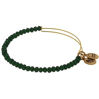 Alex and Ani Brilliance Bead Mother Earth Green Bracelet - A16EB115SG