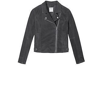 Sandwich Clothing Grey Velvet Biker Jacket
