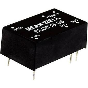Keskimääräinen No SLC03A-05 DC/DC-muunnin (moduuli) 600 mA 3 W Ei. lähtöjen määrä: 1 x