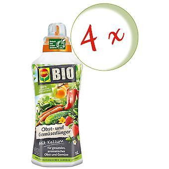Sparset: 4 x COMPO BIO Obst- und Gemüsedünger, 1 Liter