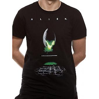 Alien Adults Unisex Poster T-shirt