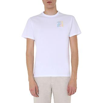 Maison Kitsuné Em00158kj0010offwhite Men's White Cotton T-shirt