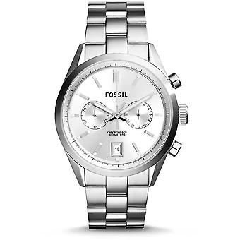 Fossil CH2968 Del Rey Chronograph Silver Dial Stainless Steel Men's Watch