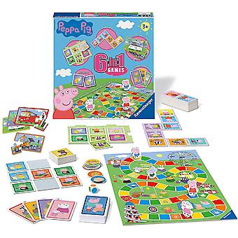 Ravensburger Peppa Pig - 6 in 1 Game Set
