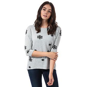 Frauen's Vero Moda Schneeflocke Pullover in grau