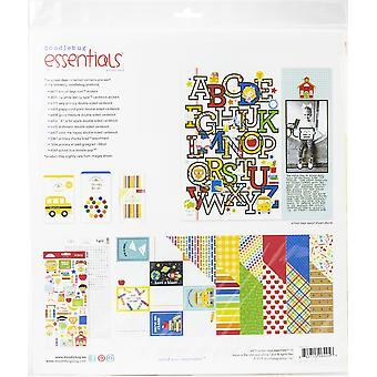 """Doodlebug Essentials Page Kit 12""""X12""""-Journées scolaires"""