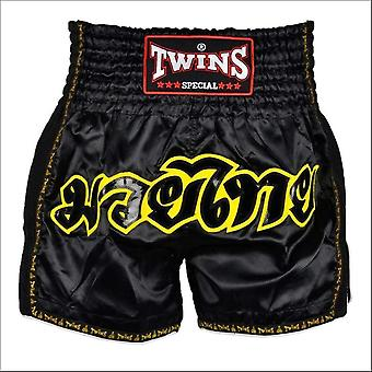 Twins special black retro muay thai shorts