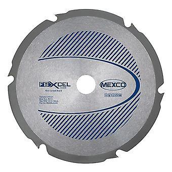 Mexco 254mm X 2,4 x 6T Fibre Cement Board PCD Diamond Blade