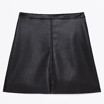 Ottod'Ame - Faux Leather Mini Skirt - Black