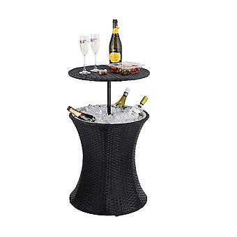 2-in-1 Ice Bucket Cooler Coffee Table Party Cocktail Bar with Adjustable Height