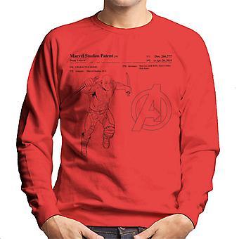 Marvel Avengers Infinity War Drax Patent Men's Sweatshirt