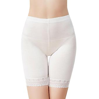 Womens Seamless Breathable Lace Trim Shapewear Safety Pants