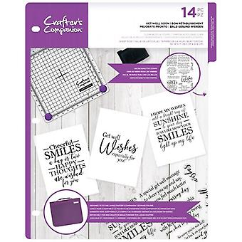 Crafter's Companion Get Well Soon Clear Postimerkit