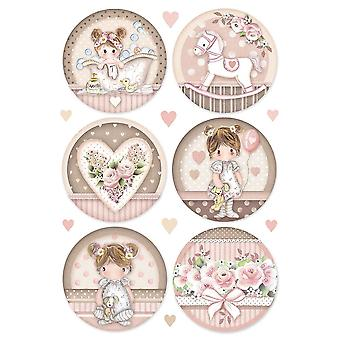 Stamperia Rice Paper A4 Little Girl Round