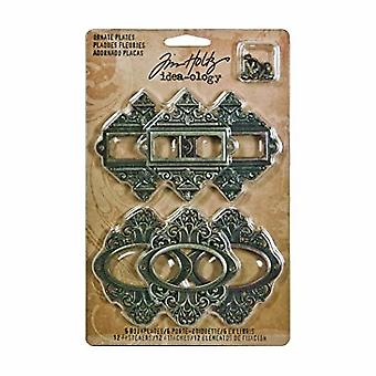 Plăci ornate Advantus Tim Holtz (6buc) (TH92787)