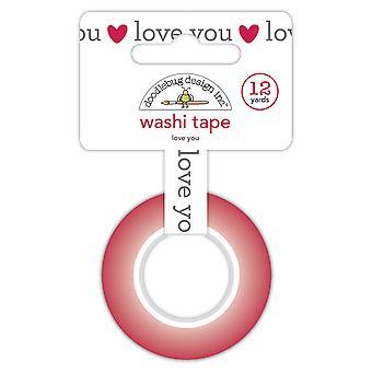 تصميم خربشة الحب لك Washi الشريط