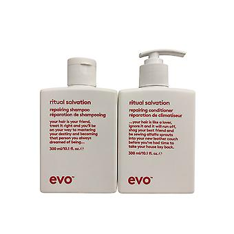 evo Ritual Salvation Repairing Shampoo & Conditioner Set 10.1 OZ Each